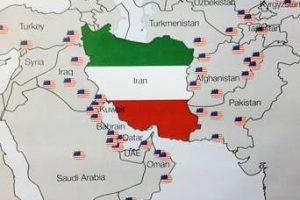 Iran uten fremmede baser, omgitt av amerikanske baser.